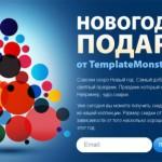 Новогодние скидки от TemplateMonster Russia и раздача сувениров и подарков